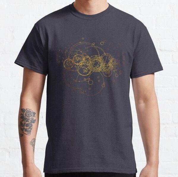Time Lord Writing (azul) Camiseta clásica