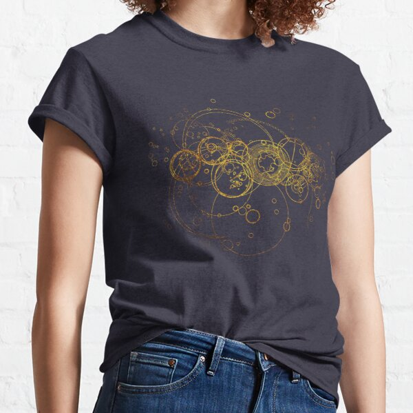 Time Lord Writing (blau) Classic T-Shirt