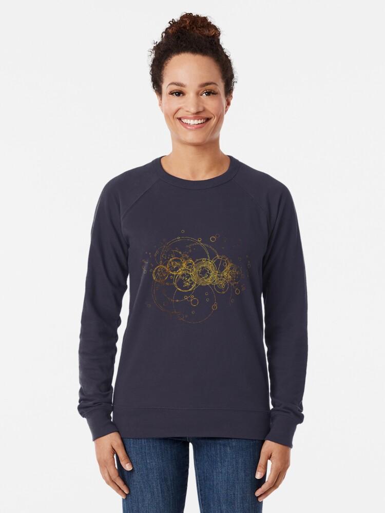 Alternate view of Time Lord Writing (blue) Lightweight Sweatshirt