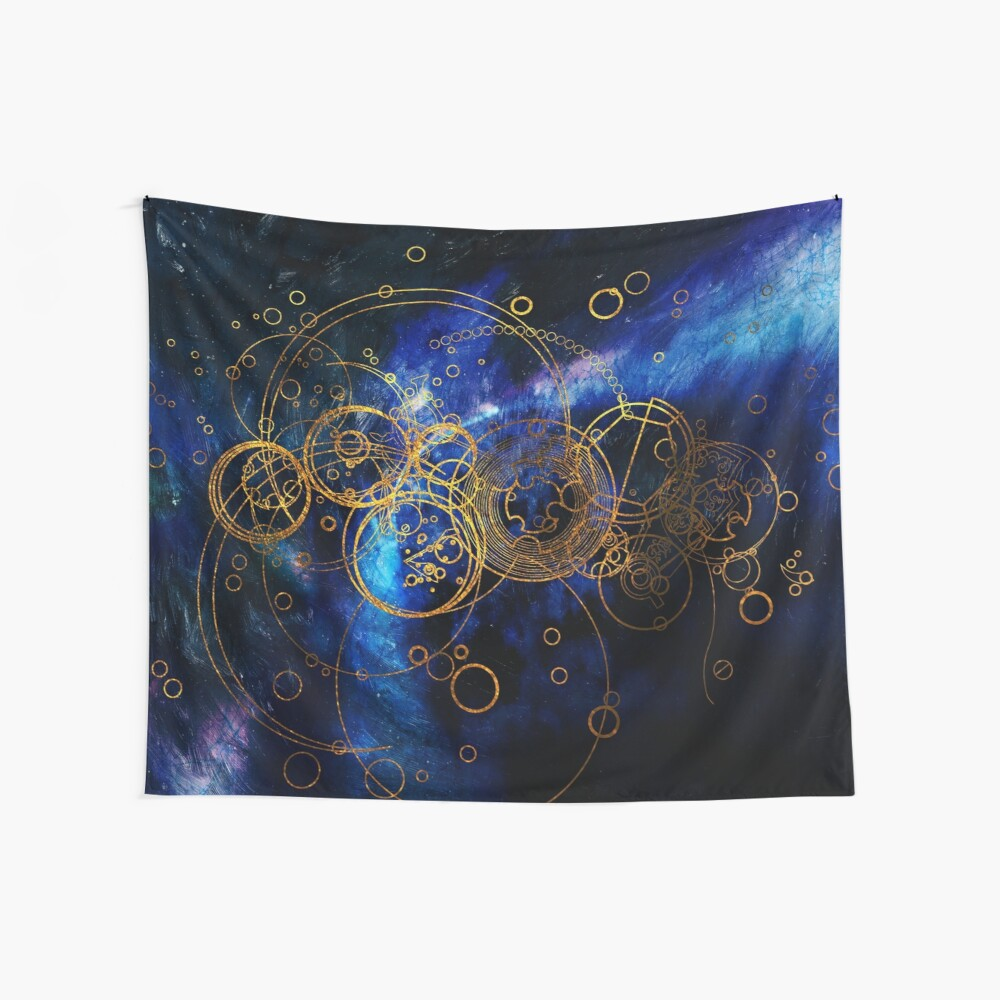 Time Lord Writing (blue) Wall Tapestry