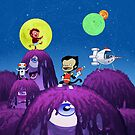 Spacemonkey Adventure by JCarrtoons
