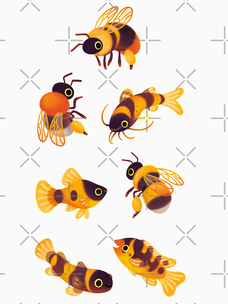 Bumblebee and fish by pikaole