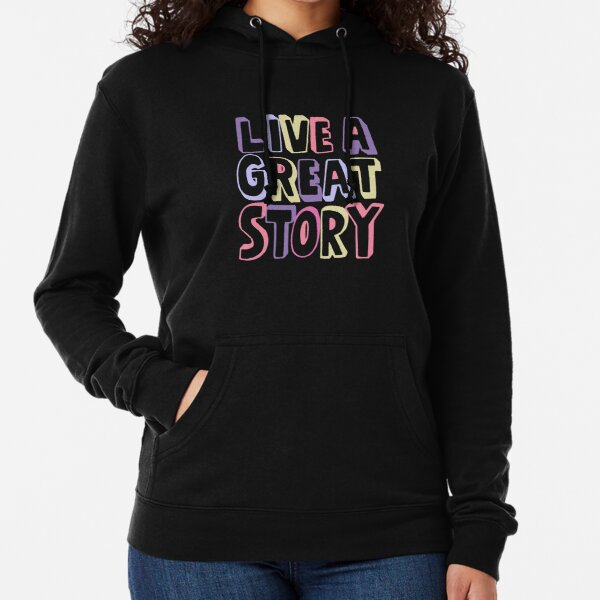 Live A Great Story - Kawaii Shades Lightweight Hoodie