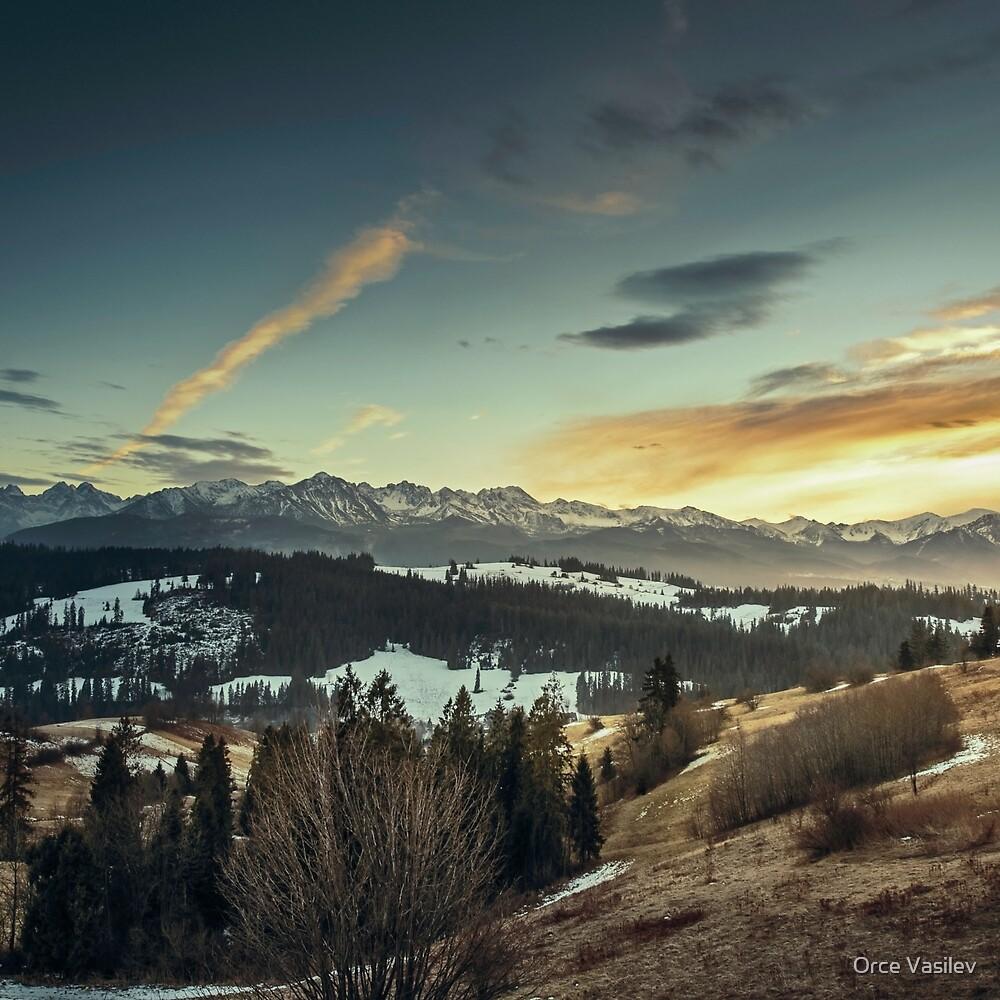 Sunset Landscape by Orce Vasilev