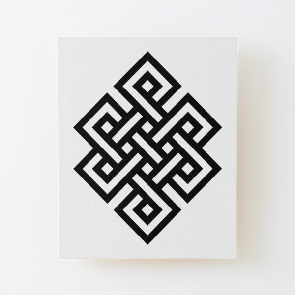 #Endless #Knot #Eternity #Buddhism Overhand Knot Wood Mounted Print