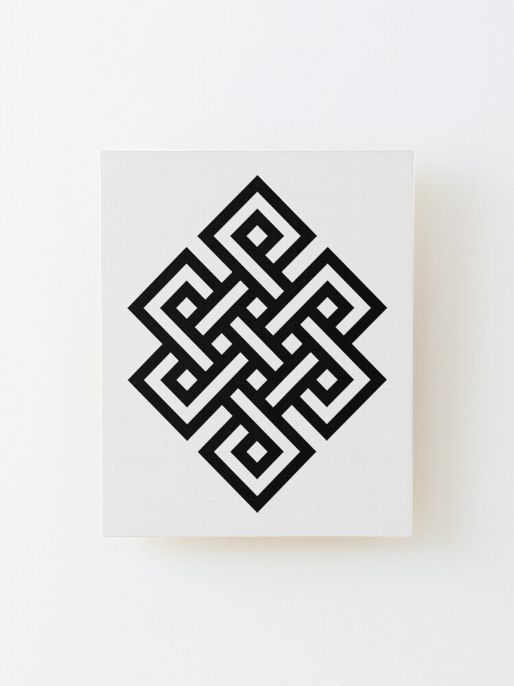 Alternate view of #Endless #Knot #Eternity #Buddhism Overhand Knot Mounted Print