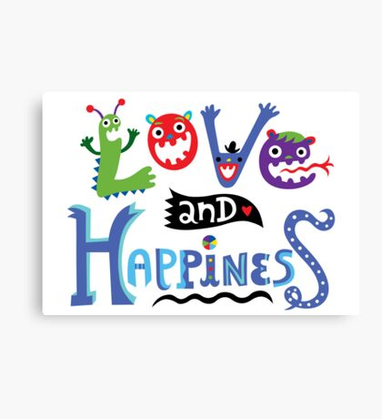 Love & Happiness Canvas Print