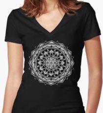 """""""Valeria"""" Sacred Geometry Mandala Women's Fitted V-Neck T-Shirt"""
