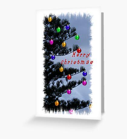 Pine Christmas Tree Decorations  Greeting Card