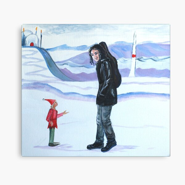 Modern-day Maglor at the North Pole Canvas Print