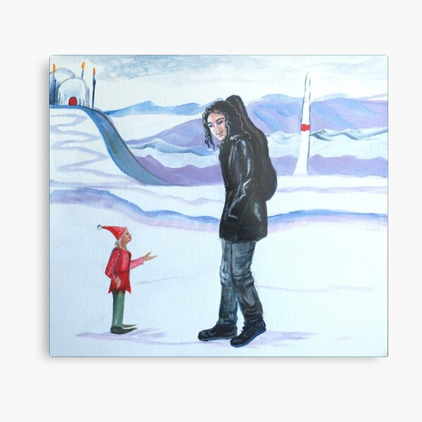 Modern-day Maglor at the North Pole Metal Print