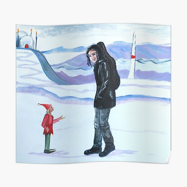 Modern-day Maglor at the North Pole Poster