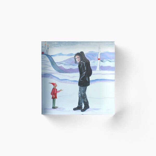 Modern-day Maglor at the North Pole Acrylic Block