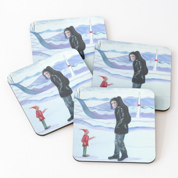 Modern-day Maglor at the North Pole Coasters (Set of 4)