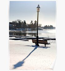 Afternoon winter bench 1 Poster