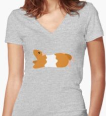 Teddy Bear Hamster Fitted V-Neck T-Shirt