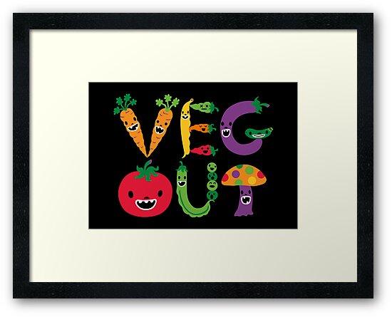 Veg Out - black by Andi Bird