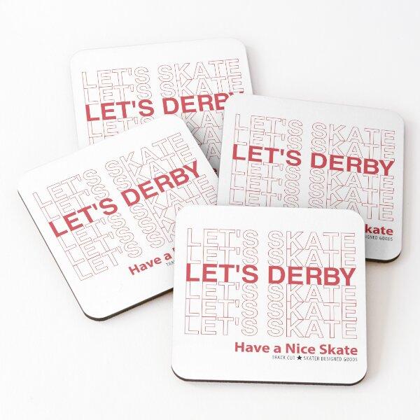 Let's Skate Let's Derby Coasters (Set of 4)