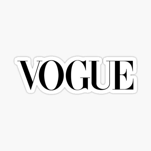 Vogue Black Fashion Sticker