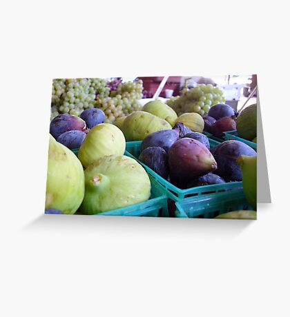 Figs & Grapes Greeting Card