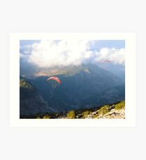 Flying through the clouds Art Print