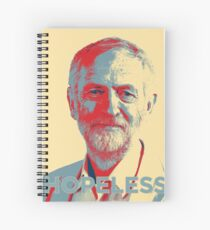 Labour Leadership Hopeless Jeremy Spiral Notebook
