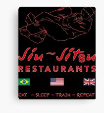 Jiu-Jitsu restaurant Canvas Print