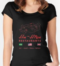 Jiu-Jitsu restaurant Women's Fitted Scoop T-Shirt
