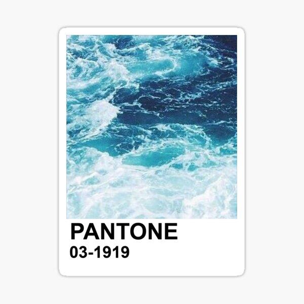 Ocean Pantone Chip Sticker