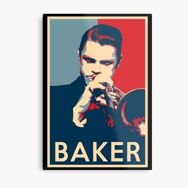Chet Baker Hope Poster - Sizes of Jazz History Metal Print