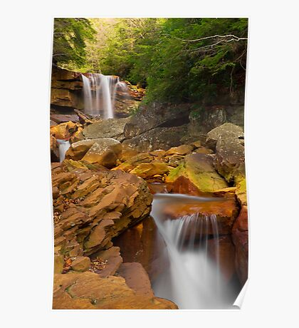 Douglas Falls Downstream Poster