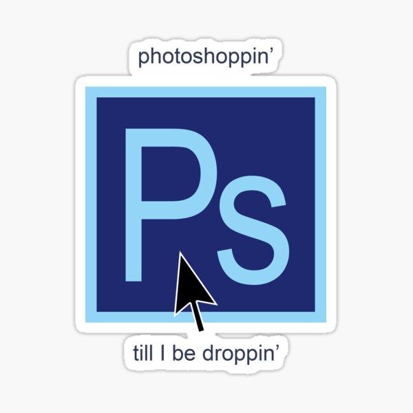 Funny photoshop digital design Sticker
