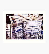 Gushing Curtains Art Print
