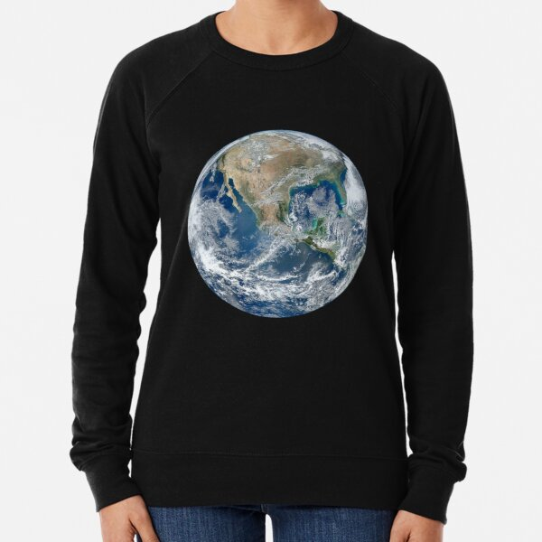 EARTH. FROM SPACE, PLANET, Blue Marble, 2012, Composite satellite image, NORTH AMERICA. Lightweight Sweatshirt