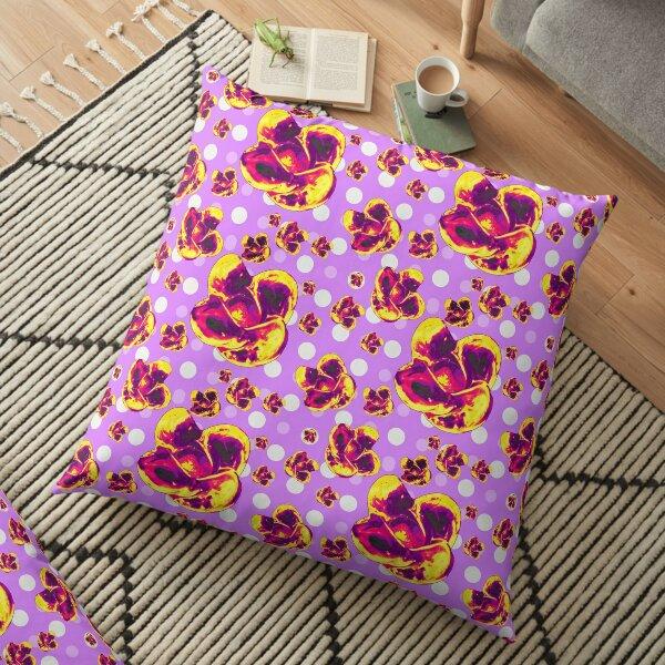 Sassy Glass Flowers Floor Pillow