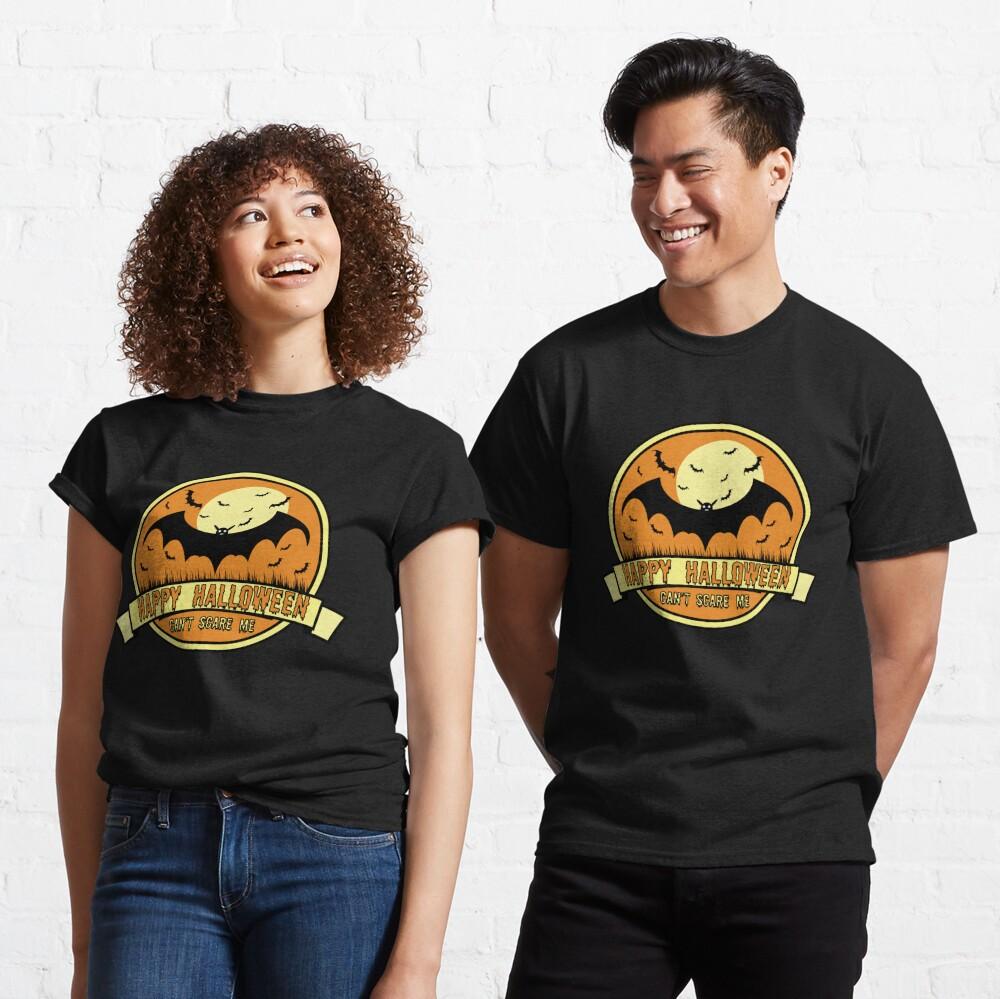 Can't Scare Me October Moonlit Spooky Vampire Bat. Classic T-Shirt