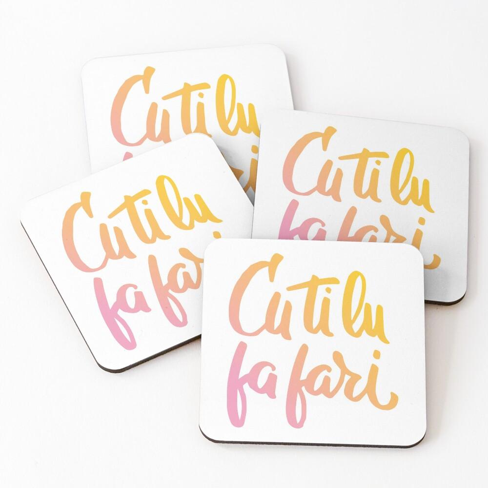 Cu ti lu fa fari - COLOR - #siculigrafia Coasters (Set of 4)