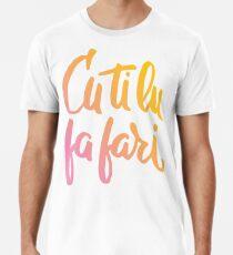 Cu ti lu fa fari - COLOR - #siculigrafia Premium T-Shirt