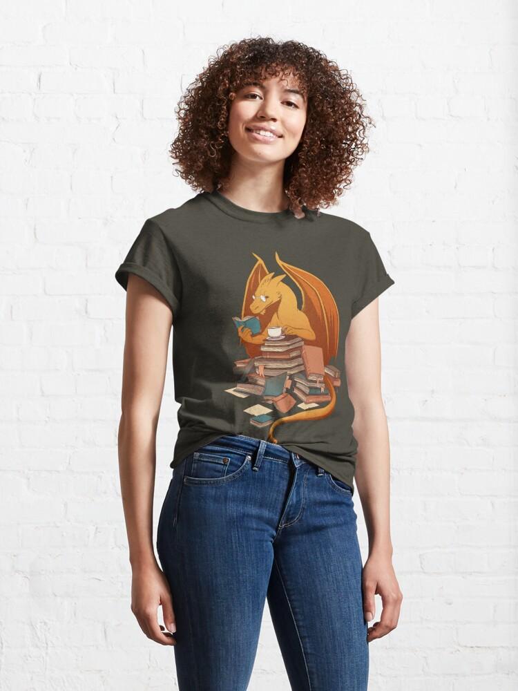 Alternative Ansicht von Die Horde des Bibliothekars Classic T-Shirt