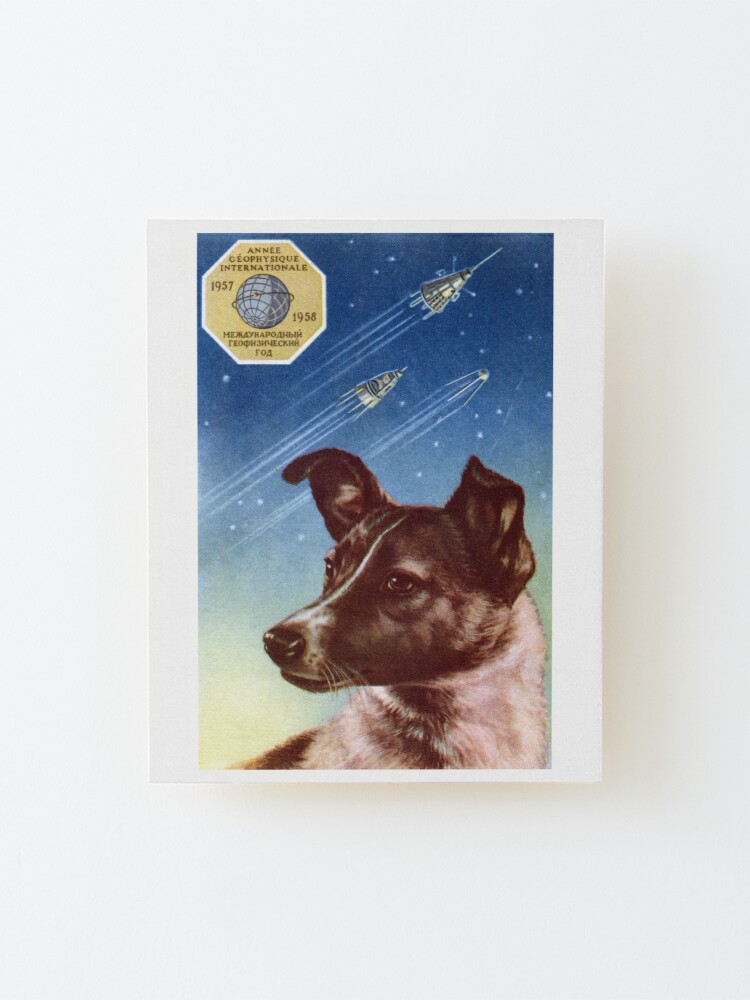 Alternate view of 1958 Laika, First Dog in Space Mounted Print