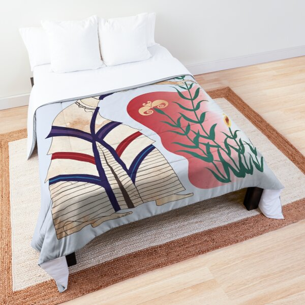 Minoan girl with flowers Comforter