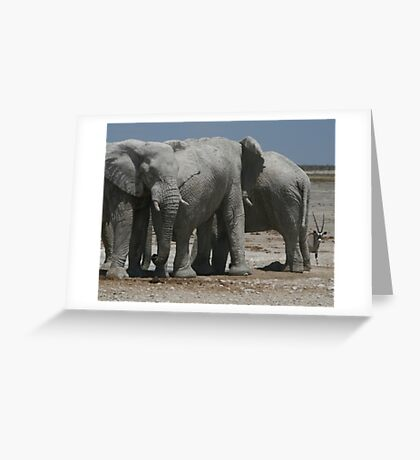 The Elephants and the Oryx Greeting Card