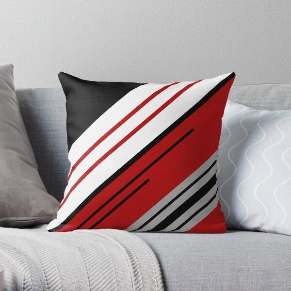 Diagonal stripes design Throw Pillow