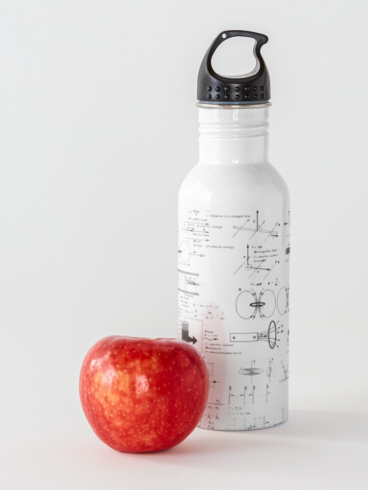 Alternate view of Physics Equations - Physics Formulas Water Bottle