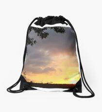 Watercolor Sunset Drawstring Bag