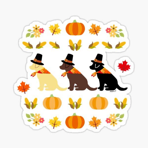 Happy Thanksgiving Labrador Retriever Sticker