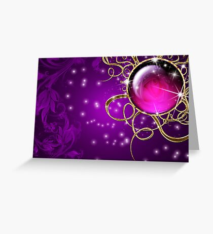 Purple Abstract Passion Jewel Greeting Card