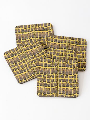 Mango Chutney Yellow Coasters