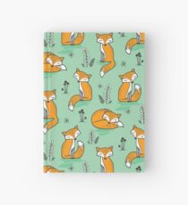 Dreamy Fox in Green Hardcover Journal