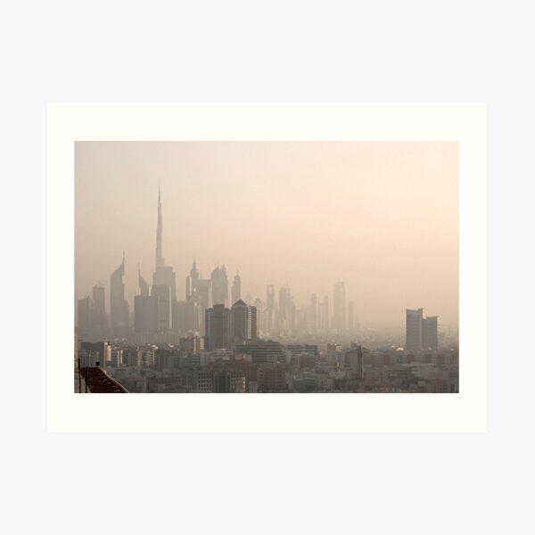 Dubai Skyline Art Print